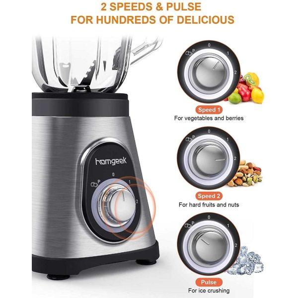 Blender Multifonction Homgeek JH-0921-176 au meilleur prix