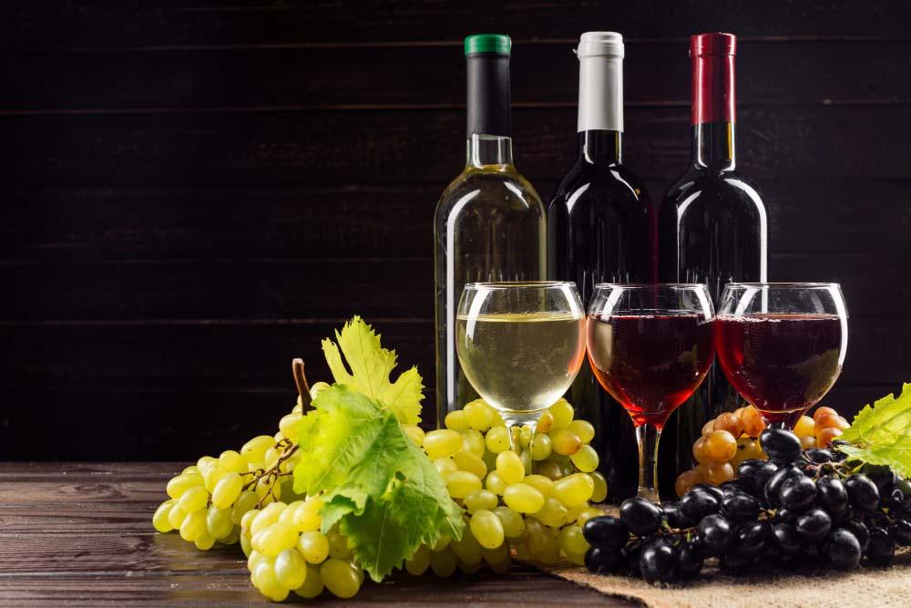 Différents Vins : Rouge, Blanc et Rosé